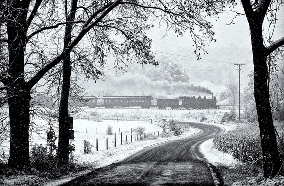 """Snow on a Train Day"""